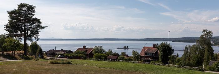 Rättvik Siljan mit der Landungsbrücke (Långbryggan)