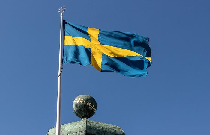 Universität Uppsala: Gustavianum - Schwedische Flagge