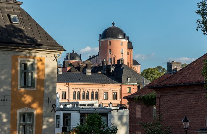 Uppsala Blick vom Domkyrkoplan Schloss Uppsala