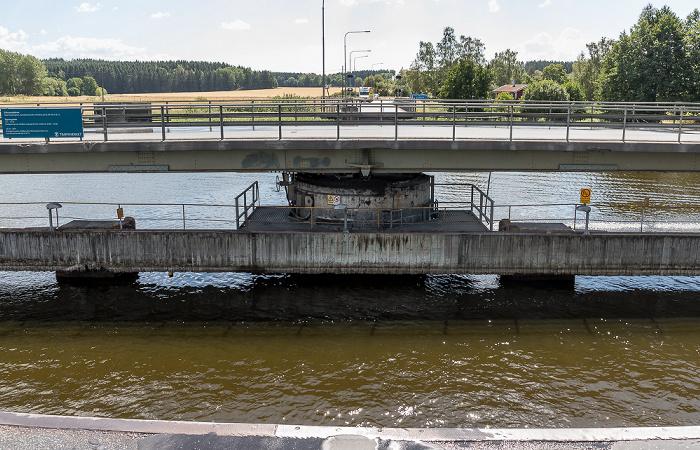 Erikssund Drehbrücke über einen Seitenarm des Mälaren (Mälarsee)