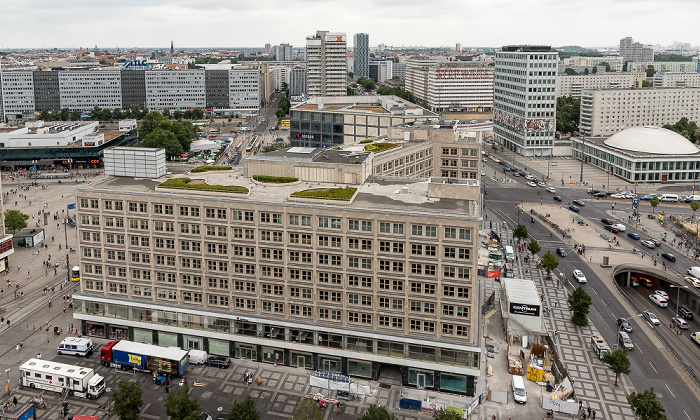 Blick aus dem Motel One Alexanderplatz: Alexanderhaus, Alexanderplatz Berlin