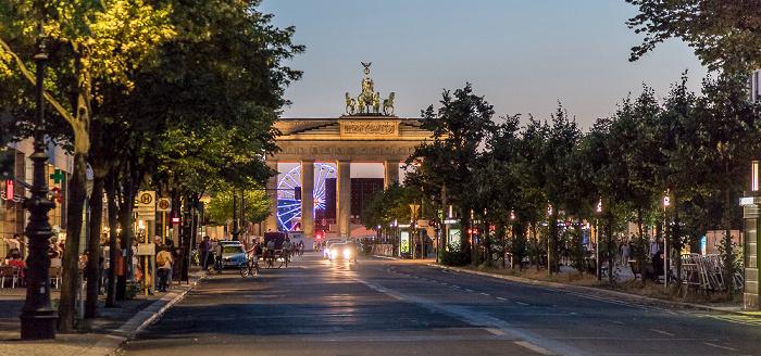 Unter den Linden, Pariser Platz, Brandenburger Tor Berlin
