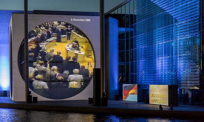 Marie-Elisabeth-Lüders-Haus: Film- und Lichtprojektion Dem deutschen Volke - Eine parlamentarische Spurensuche Berlin