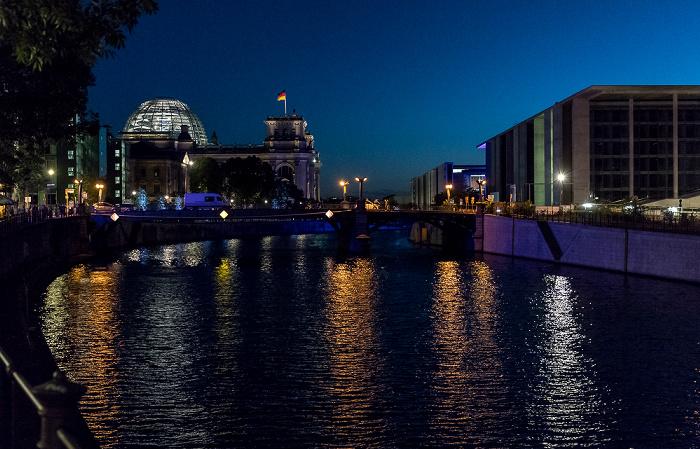 Spree, Marschallbrücke, Reichstagsgebäude, Marie-Elisabeth-Lüders-Haus Berlin