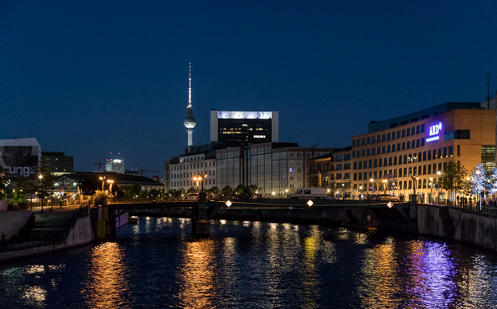 Spree, Marschallbrücke, ARD-Hauptstadtstudio Berlin