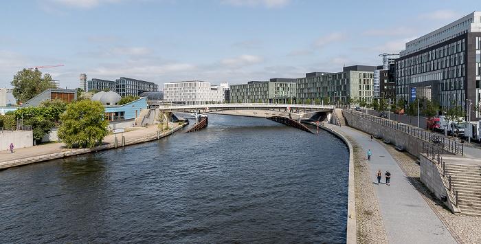 Spree, Kronprinzenbrücke, Schiffbauerdamm, Haus der Bundespressekonferenz Berlin