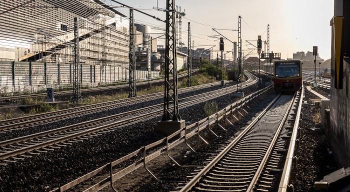 Blick vom Bahnhof Warschauer Straße Berlin