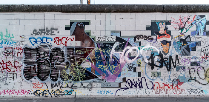 Friedrichshain: East Side Gallery Berlin 2018