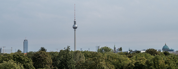 Blick vom Beobachtungsturm der Gedenkstätte Berliner Mauer Berlin