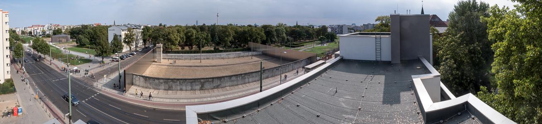 Blick vom Beobachtungsturm der Gedenkstätte Berliner Mauer: Gedenkstätte Berliner Mauer an der Bernauer Straße Berlin