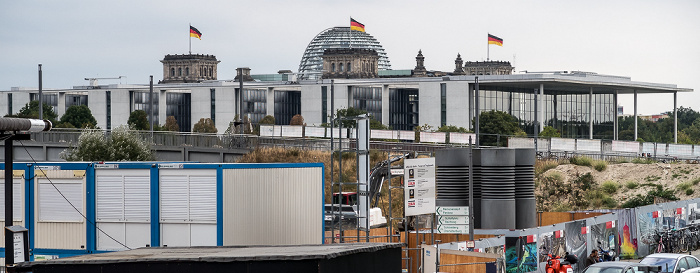 Berlin Baustelle am Hauptbahnhof Paul-Löbe-Haus Reichstagsgebäude