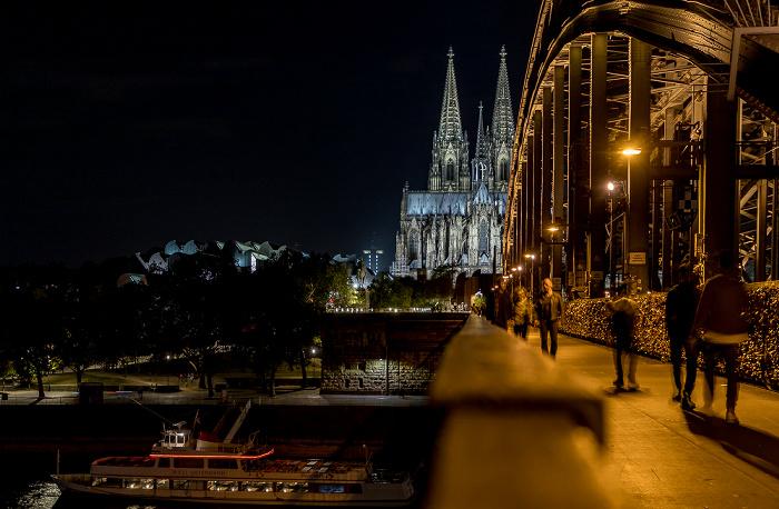 Rhein, Hohenzollernbrücke, Museum Ludwig, Kölner Dom Köln 2018