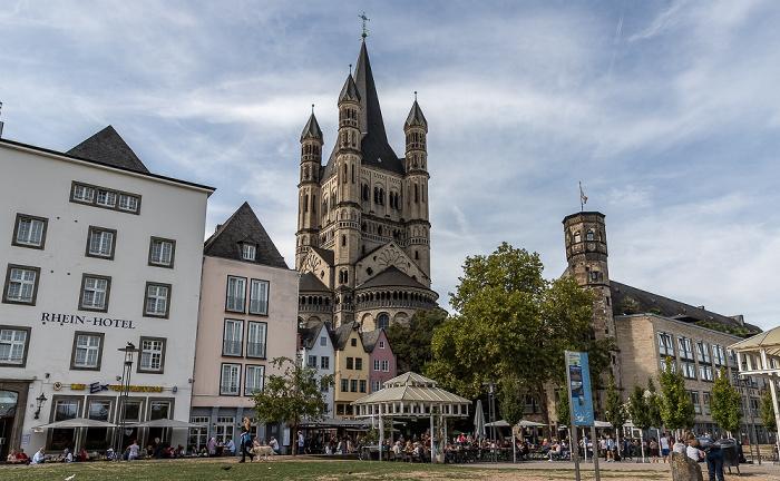Altstadt: Rheingarten, Fischmarkt, Groß St. Martin Köln 2018