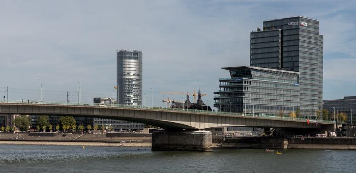 Rhein, Deutzer Brücke, LANXESS-Zentrale Köln 2018