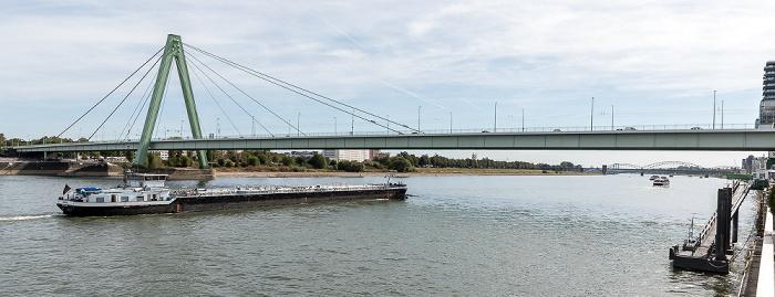 Rhein, Severinsbrücke Köln 2018