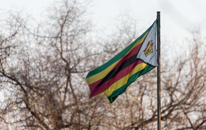 Hwange National Park Flagge von Botswana