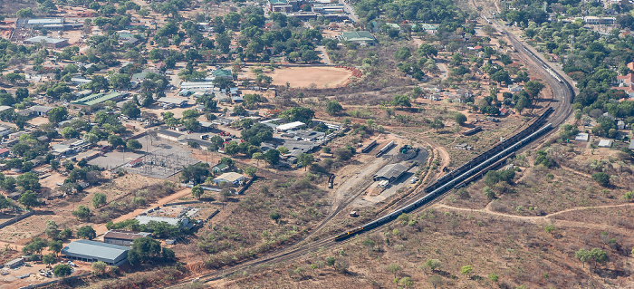 Victoria Falls Blick aus dem Hubschrauber Luftbild aerial photo