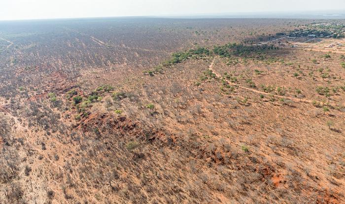 Victoria Falls Blick aus dem Hubschrauber: Matabeleland North Province (Simbabwe) Luftbild aerial photo