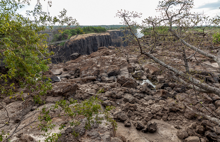 Mosi-oa-Tunya National Park Sambesi Knife Edge Bridge Victoria Falls Bridge Victoriafälle