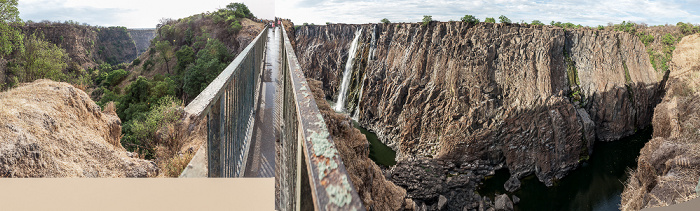 Mosi-oa-Tunya National Park Knife Edge Bridge, Victoriafälle, Sambesi First Gorge Second Gorge Victoria Falls Bridge