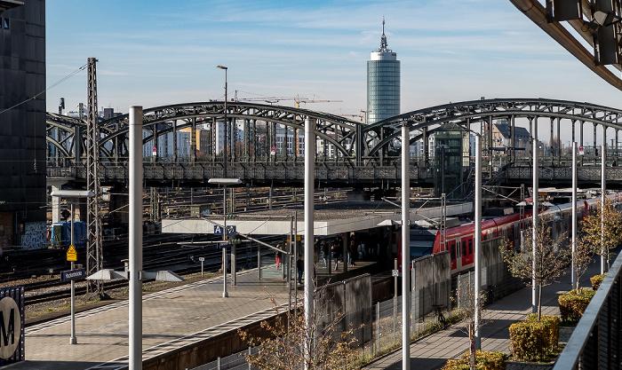 Bahnstrecke Hauptbahnhof - Pasing, S-Bahnhof Hackerbrücke, Hackerbrücke, Central Tower München München