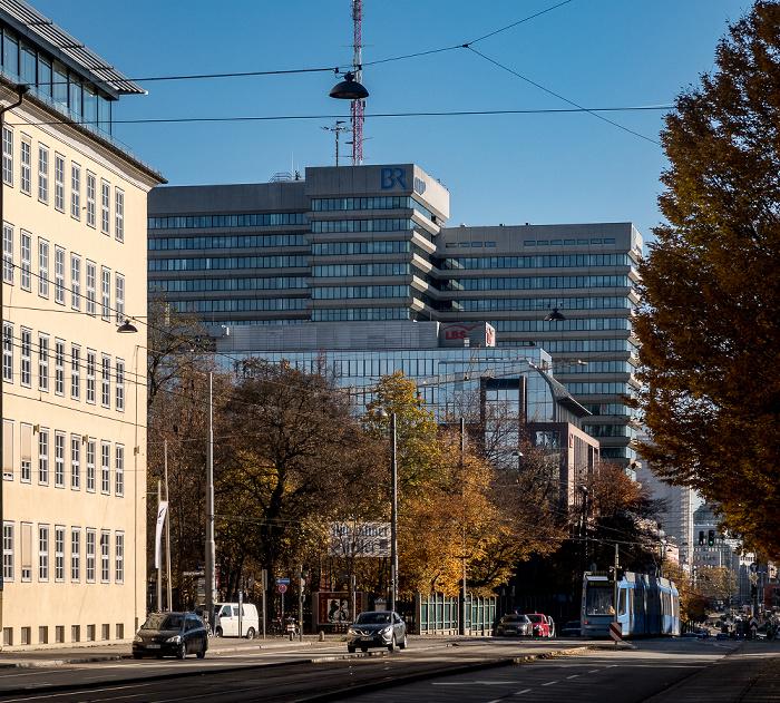 Arnulfstraße, Biergarten Augustiner-Keller, BR-Funkhaus München