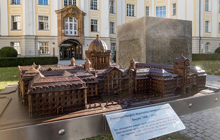 Hopfenstraße: Modell der Hopfenpost München