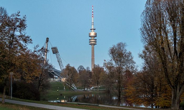 Olympiapark: Olympiasee, Olympiaturm München