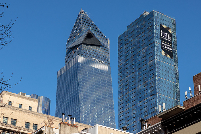 Chelsea: 30 Hudson Yards (links) und 3 Manhattan West (The Eugene) New York City