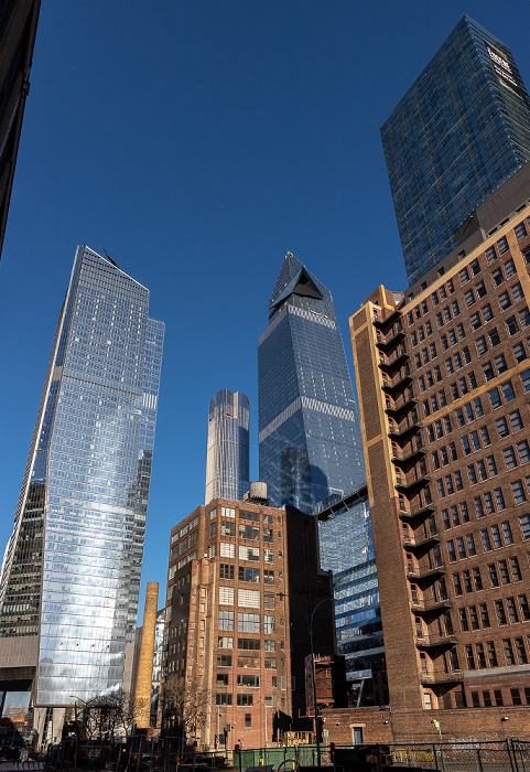 Chelsea: 9th Avenue - Hudson Yards und Manhattan West (rechts) New York City
