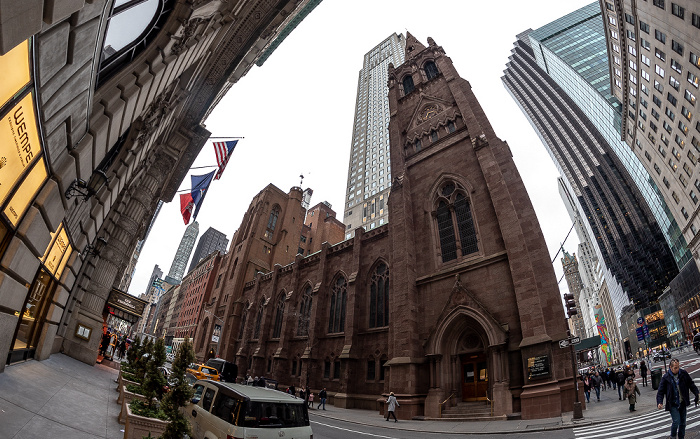 New York City 55th Street / Fifth Avenue: Fifth Avenue Presbyterian Church 550 Madison Avenue (Sony Building) 711 Fifth Avenue 712 Fifth Avenue Madison Avenue The Peninsula New York Trump Tower
