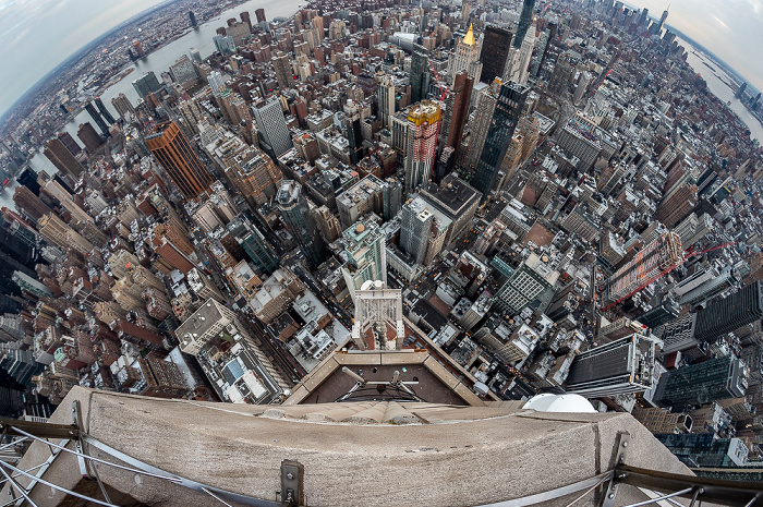 New York Blick vom Empire State Building: Manhattan