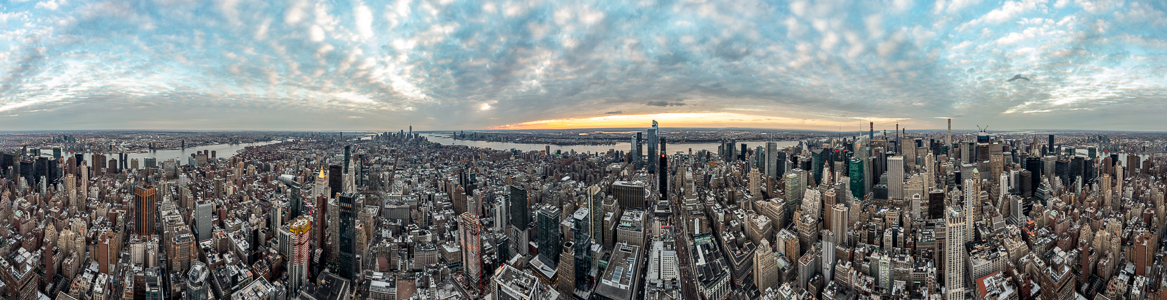 New York City Blick vom Empire State Building: 360° Manhattan