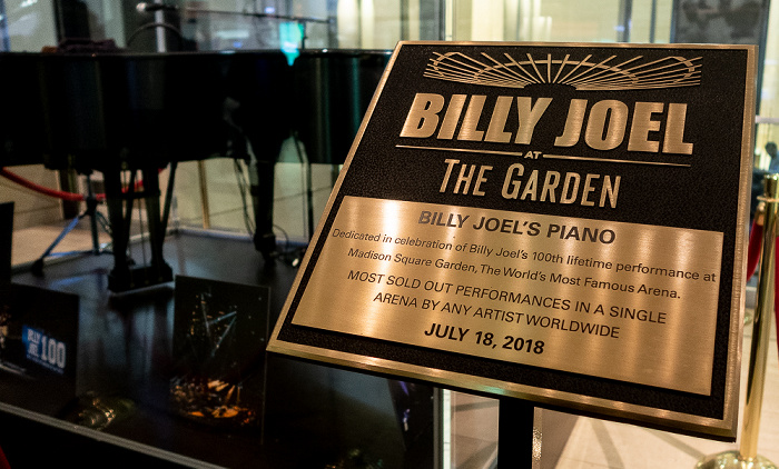 New York City Madison Square Garden: Billy Joel's Piano - Celebration of 100th lifetime performance at MSG am 18. Juli 2018