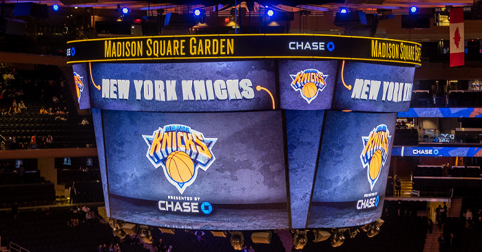 Madison Square Garden: Vor dem NBA-Spiel New York Knicks - Dallas Mavericks