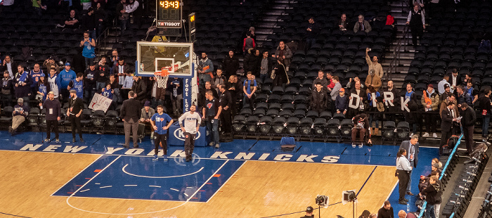 New York City Madison Square Garden: Vor dem NBA-Spiel New York Knicks - Dallas Mavericks