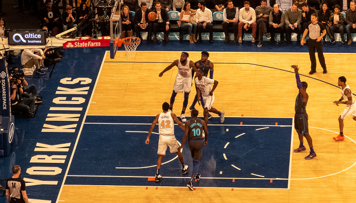 New York City Madison Square Garden: NBA-Spiel New York Knicks - Dallas Mavericks
