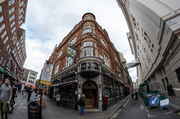 Covent Garden: James Street / Floral Street - The Nag's Head London