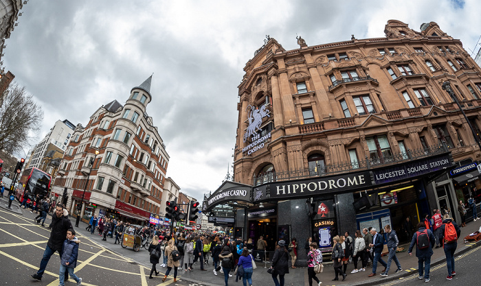 Soho: Charing Cross Road / Cranbourn Street - Hippodrome London