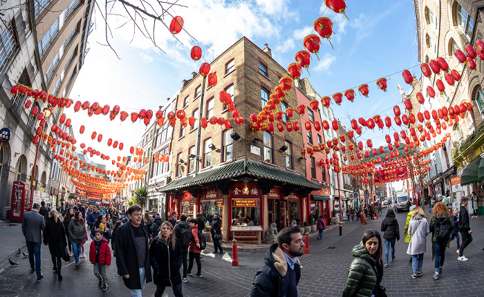 Soho: Chinatown - Gerrard Street / Macclesfield Street London