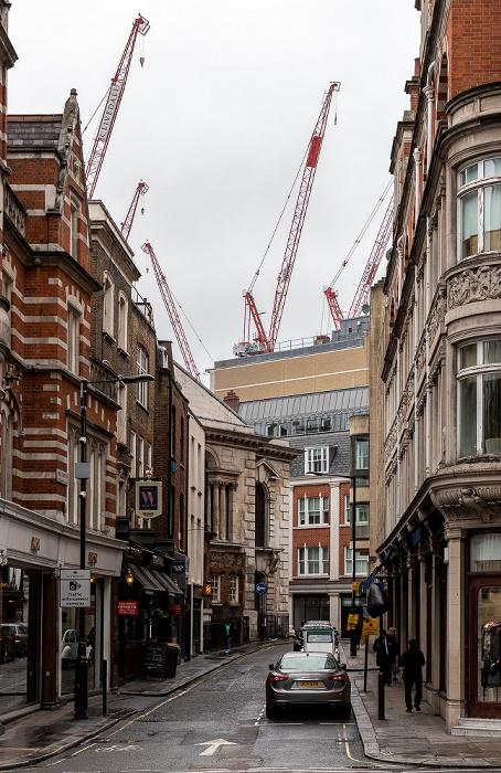 London Mayfair: Mill Street St George's Hanover Square Church