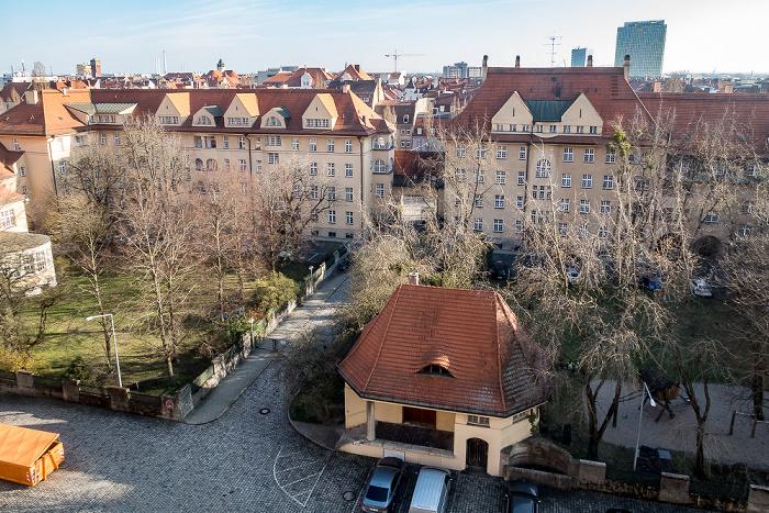 Blick aus dem Hauptzollamt München