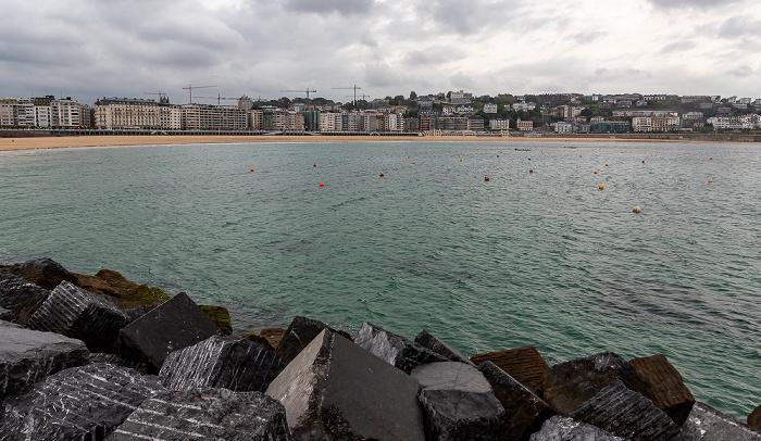 Donostia-San Sebastián Bahía de La Concha mit Playa de La Concha