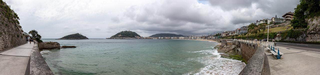Donostia-San Sebastián Bahía de La Concha Isla de Santa Clara Monte Ulía Monte Urgull