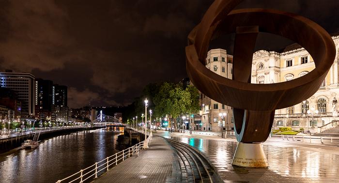 Bilbao Uríbarri: Variante ovoide de la desocupación de la esfera (von Jorge Oteiza) Ría de Bilbao