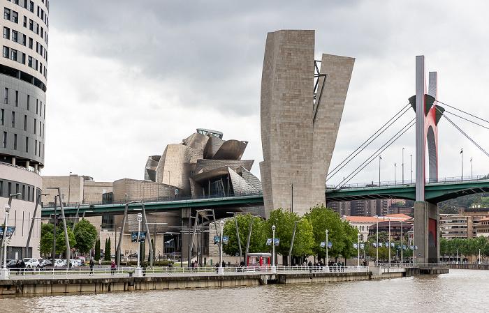 Ría de Bilbao, Torre de La Salve, Puente de La Salve Guggenheim-Museum Bilbao