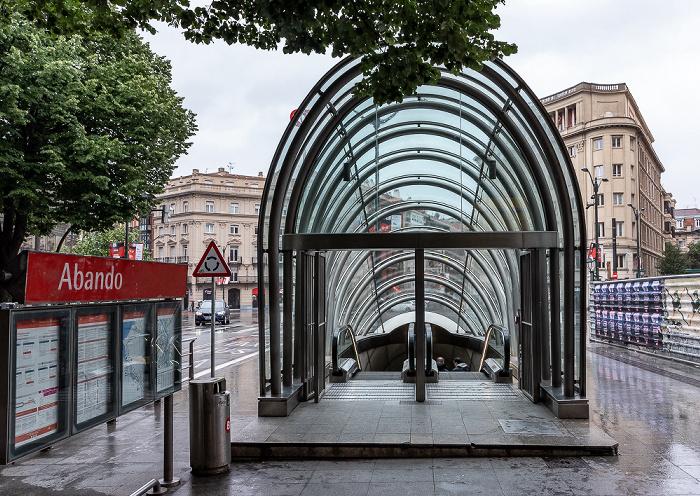 Plaza Circular: Zugang zum Estación de Abando Bilbao