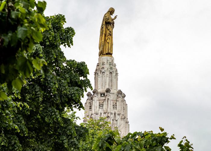 Indautxu: Plaza del Sagrado Corazón de Jesús - Monumento al Sagrado Corazón de Jesús Bilbao