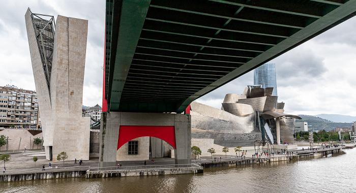 Abando: Torre de La Salve, Puente de La Salve, Guggenheim-Museum Bilbao, Torre Iberdrola Bilbao