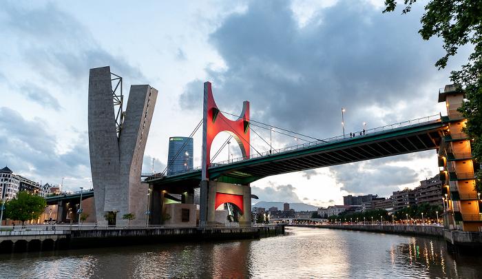 Abando mit Torre Iberdrola und Torre de La Salve, Puente de La Salve, Uríbarri Bilbao